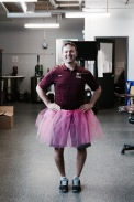 McMaster Athletic Therapist Chris Puskas, Supporting the Annual Think Pink Campaign for Breast Cancer Awareness