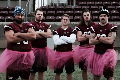 McMaster University Football Team, Supporting the Annual Think Pink Campaign for Breast Cancer Awareness