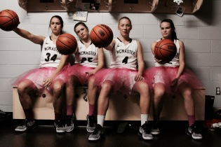 McMaster Women's Basketball Team, Supporting the Annual Think Pink Campaign for Breast Cancer Awareness