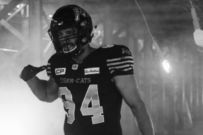 Justin Capicciotti, Tim Hortons Field Tiger-Cats video shoot
